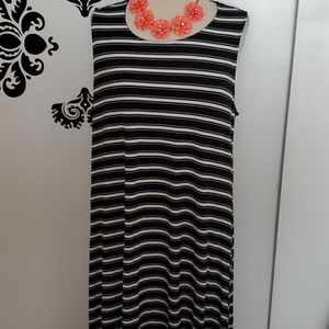 Striped t_shirt sleeveless dress